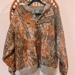 Cabelas windshear 100% wool heavy weight sweater